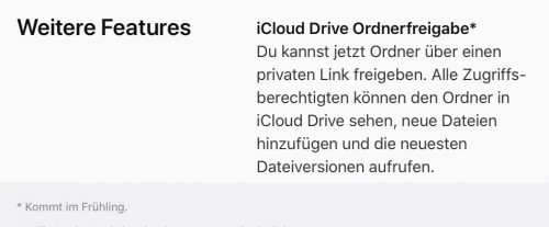 Icloud Drive Ordnerfreigabe Termin