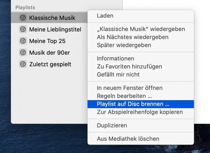 Macos Cartalina Musik App Cd Brennen