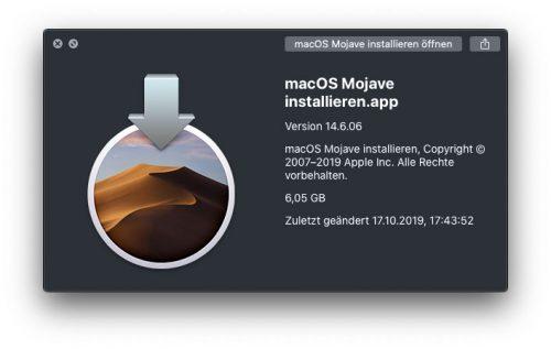 Macos Mojave Installieren App