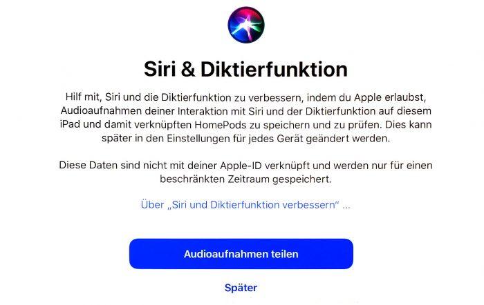 Siri Diktierfunktion