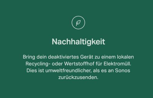 Sonos Nachhaltig