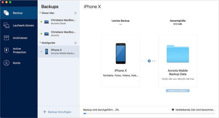 Acronis Iphone Backup