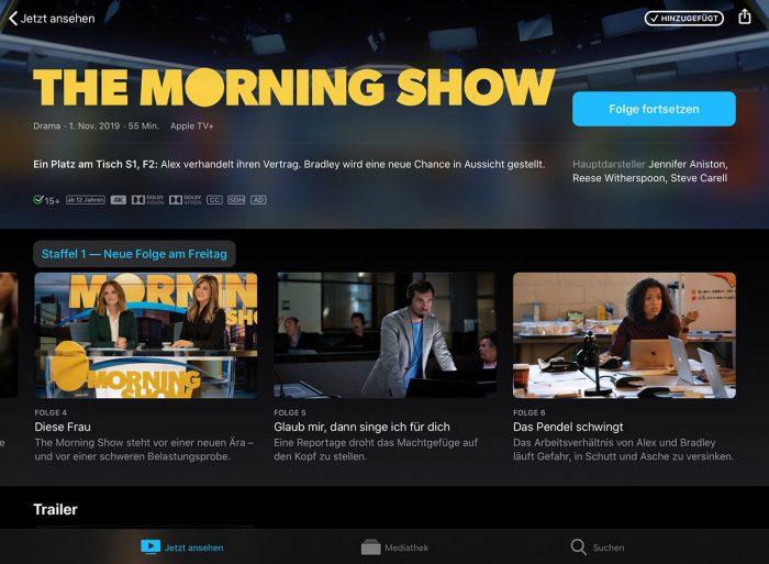 Apple Tv Plus Morning Show Neue Folgen