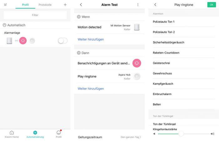 Aqara Alarmanlage In Xiaomi App