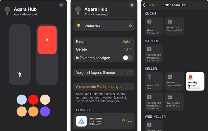 Aqara Hub In Homekit App