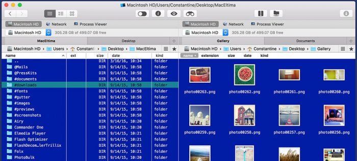 Commander One Mac Finder Ansicht