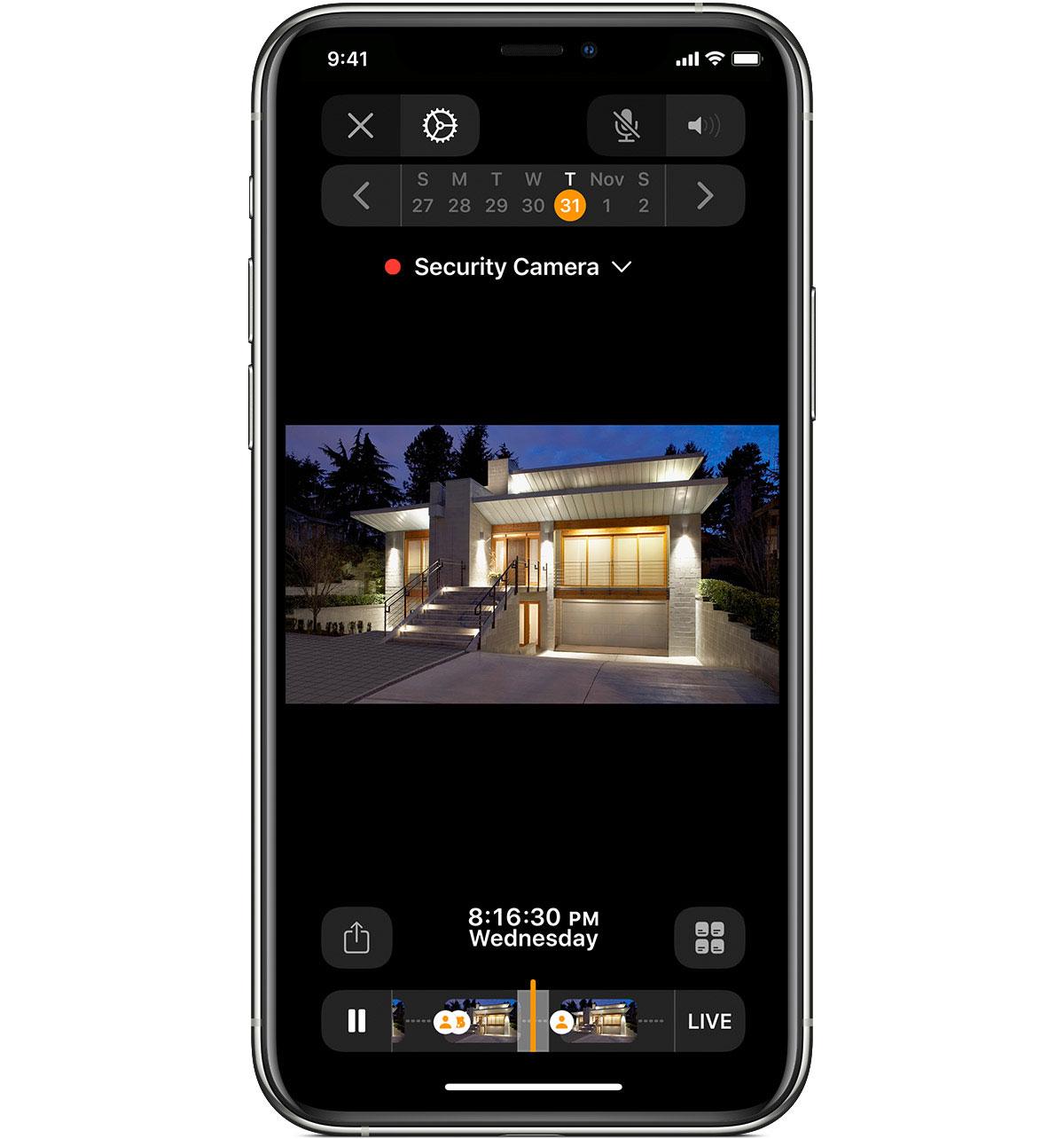 Homekit Secure Video Iphone Ansicht