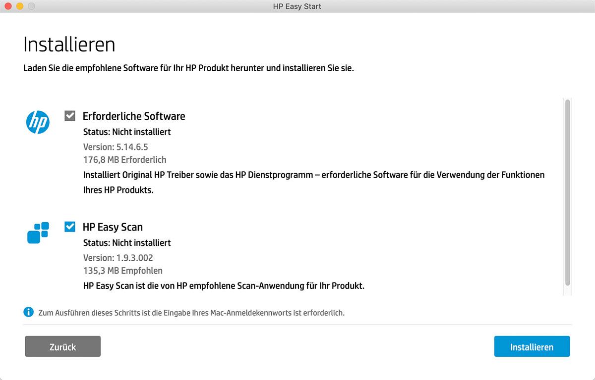 HP Easy Scan: Version 1.9.3 läuft unter macOS Catalina ...