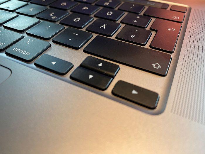 Macbook Pro 16 Pfeiltasten