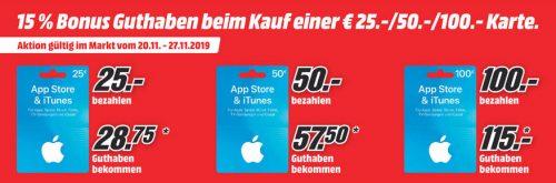 Mediamarkt Itunes Karten Mit Bonus
