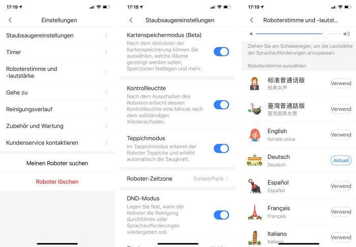 Roborock Staubsauger Einstellungen App