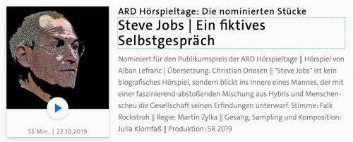 Steve Jobs Hoerspiel Ard Hoerspieltage