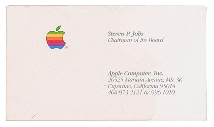 Visitenkarte Steve Jobs