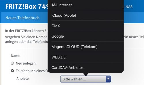 Avm Fritzbox Icloud Kontakte Sync