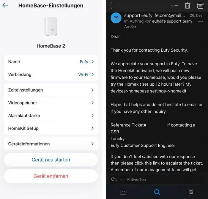 Eufycam Homekit Update