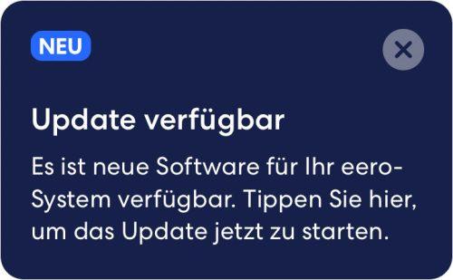 Eero Update Msg