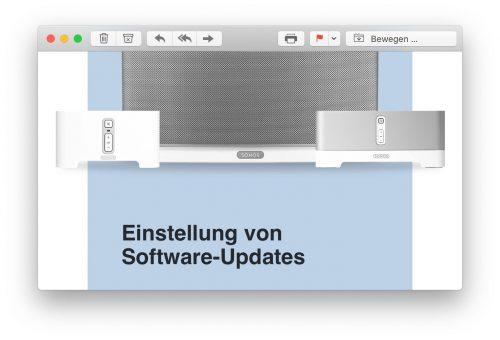 Einstellung Updates Sonos