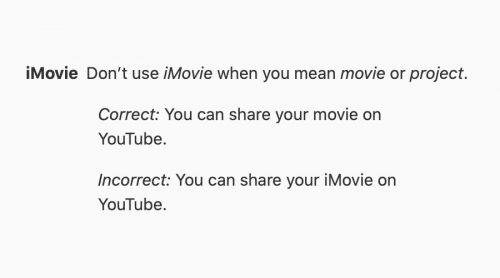 Imovie Style Guide