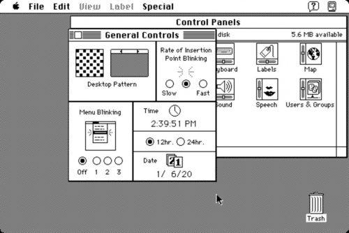 Macintosh Datum Uhrzeit System 7
