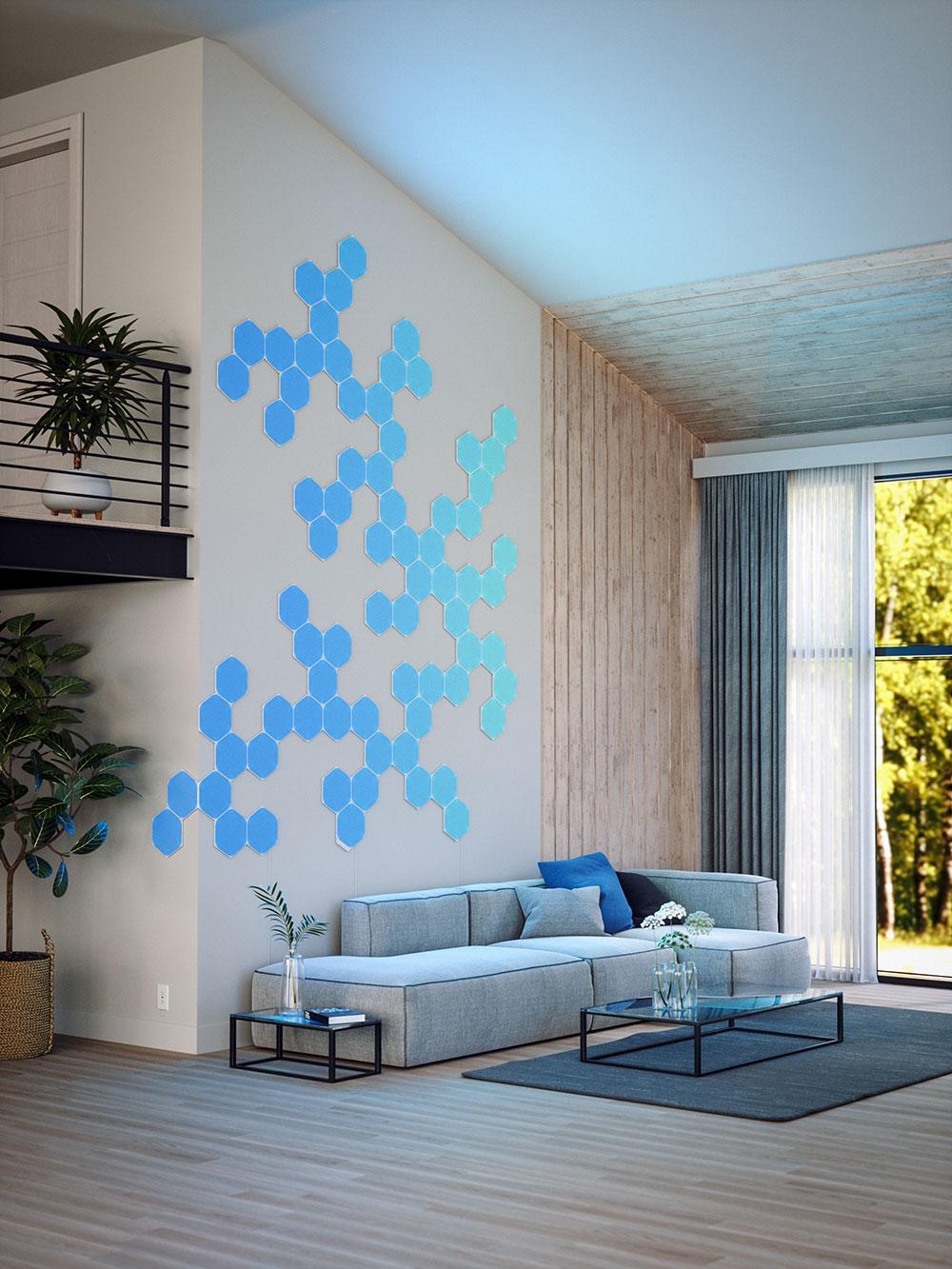 Nanoleaf Unified Hexagons Auf Wand