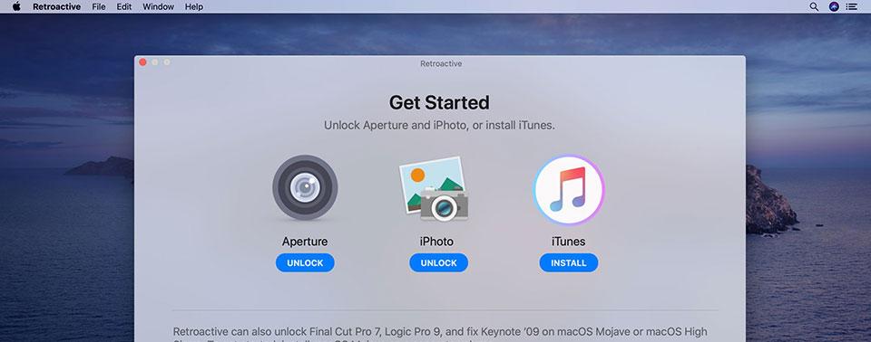 macOS Catalina: Retroactive startet iTunes, iPhoto und Co.