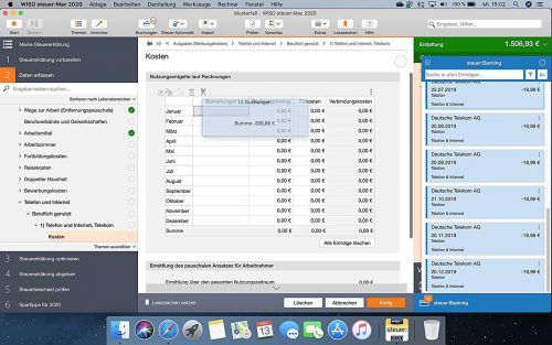 Wiso Steuer Mac 2020 Screenshot