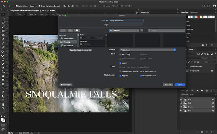 Adobe Photoshop Dunkelmodus