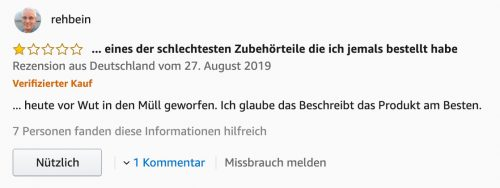 Bewertung Amazon