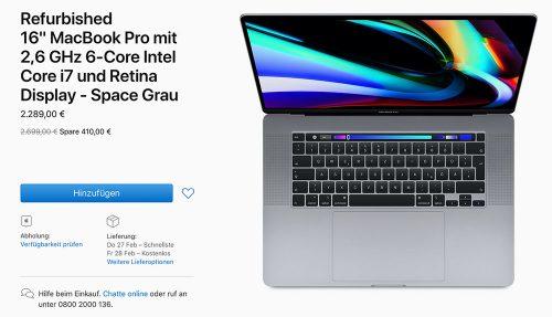 Macbook Pro 16 Zoll Refurbished Guenstiger