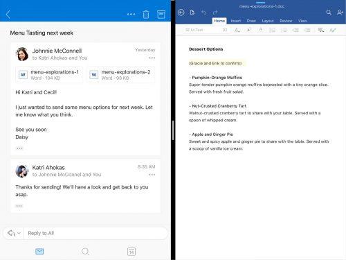 Microsoft Outlook Ipad Split View