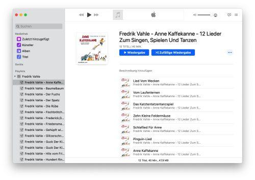 Musik App Playlist