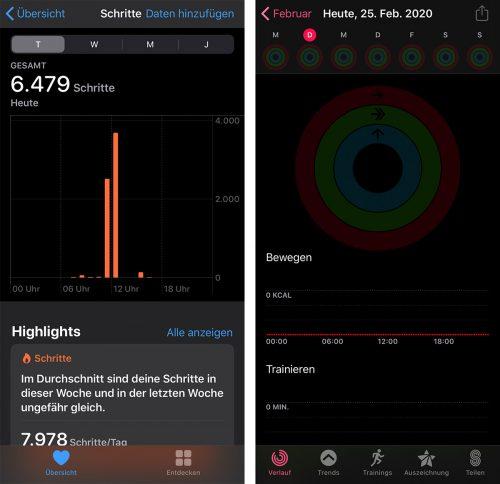 Schritte Gezaehlt Iphone Aktivitaet App