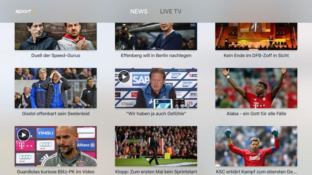 Neue Sport1 App Fur Apple Tv Ipad Und Iphone Ifun De
