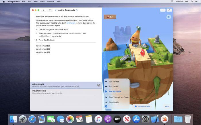 Swift Playgrounds Mac