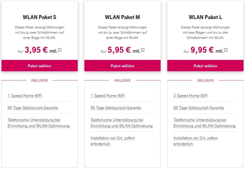 Uebersicht WLAN Pakete 1500