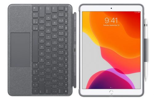 Logitech Combo Touch Keyboard Case Mit Trackpad Fuer IPad