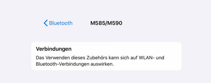 Bluetooth Verbindung Feature