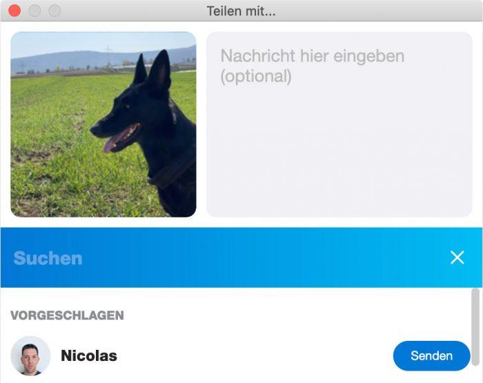 Skype Mac Datei Teilen Finder