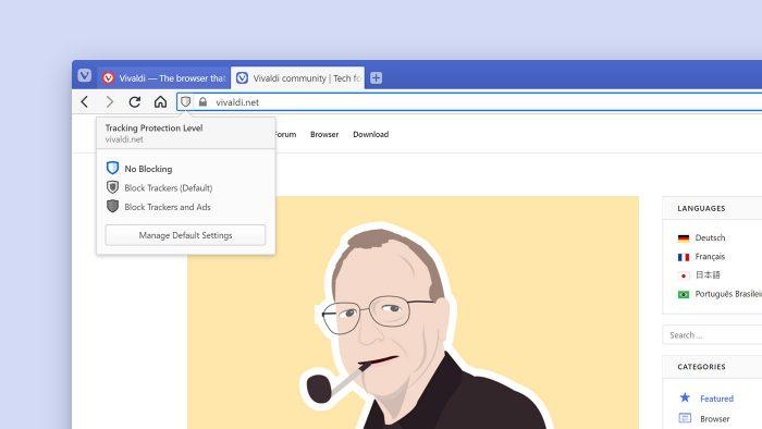 Vivaldi Browser Tracking Schutz