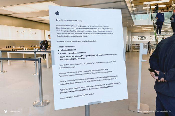 Apple Store Hamburg Corona Massnahmen