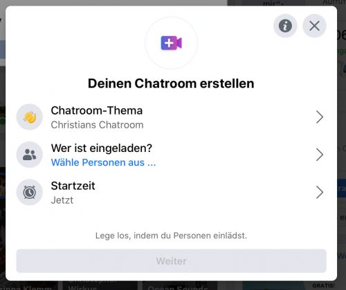 Facebook Messenger Room Erstellen