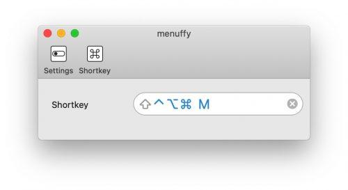 Menuffy Tastenkuerzel