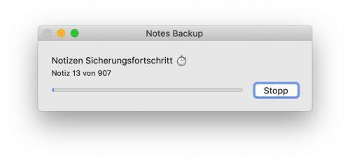 Notizen Backup