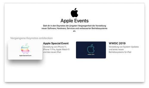 Apple Events Auf Apple Tv