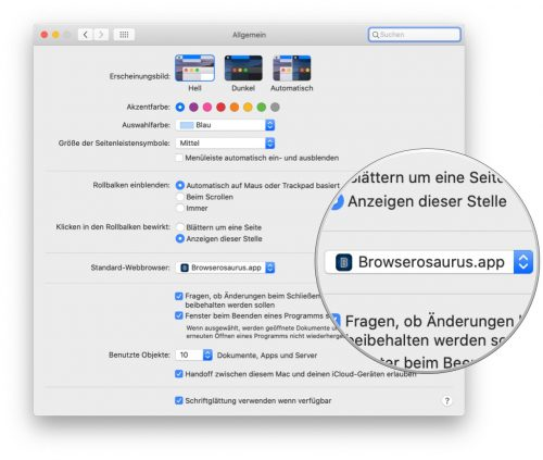 Browserosaurus Mac App