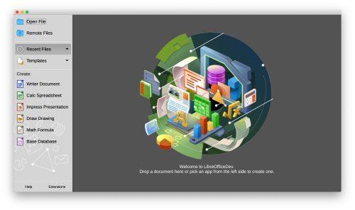 Libreoffice Startscreen