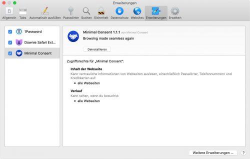 Minimal Consent Mac App