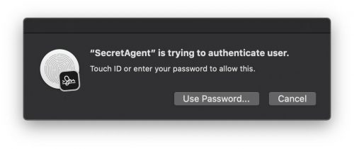 Secret Agent Touchid