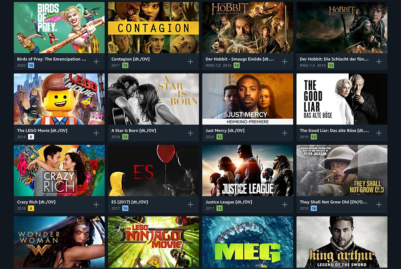 Amazon Leihfilme
