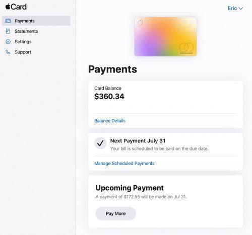 Apple Card Online Bezahlen
